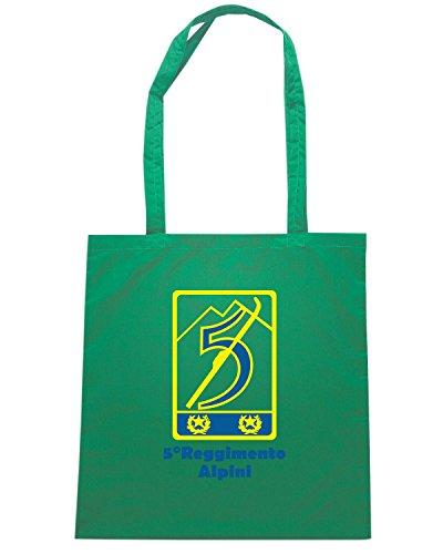 T-Shirtshock - Bolsa para la compra T1026 5 reggimento alpini militari Verde