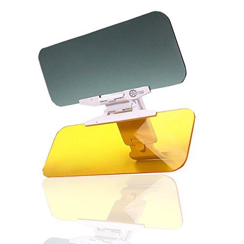 VaygWay Winshield Car Sun Visor-Anti-Glare Day and Night- Auto Vision Sun Visor Extender- Tac 2 in 1 Car Visor- Sun Shade Block UV Rays- Universal Fit Car, SUV, Truck