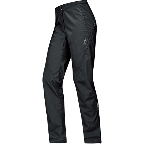 GORE BIKE WEAR Women's Long Rain Cycling Overtrousers, Super-Light, GORE WINDSTOPPER,  LADY WS AS Pants, Size L, Black, PWELEL