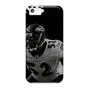 Shock Absorbent Hard Phone Case For Apple Iphone 5c With Support Your Personal Customized Lifelike Baltimore Ravens Skin JamieBratt