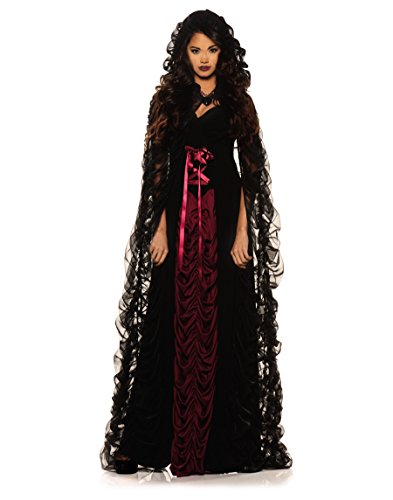 Underwraps Midnight Mist Gothic Womens Costume Medium Black / Red Medium