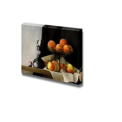 Original Creation, Dazzling Picture, Still Life with Glass Apples Peaches and Plums in Holland Classic Style