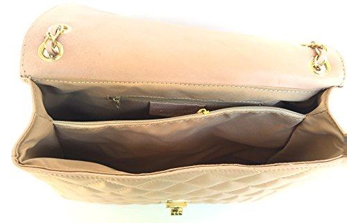 Superflybags - Bolso de asas de Piel para mujer rosa
