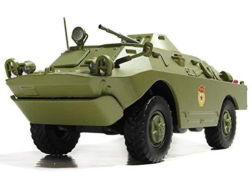 BRDM-2 1963 Year (Also Called BTR-40PB, BTR-40P-2 and GAZ 41-08)- Legendary Soviet Amphibious Armored Patrol Car - 1/43 Collectible Model Vehicle - Gorky Automobile Factory