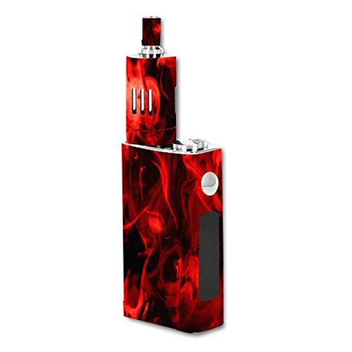 JoyeTech-eVic-VT-60W-Kit-Vape-E-Cig-Mod-Box-Vinyl-DECAL-STICKER-Skin-Wrap-ONLY-not-actual-vape-or-ecig-Red-Smoke