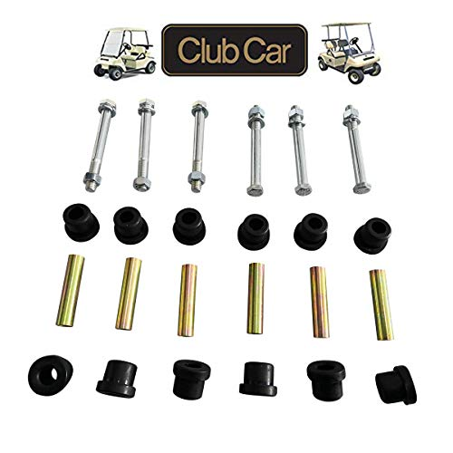 (No. 1 accessories Front or Rear Leaf Spring& Front Upper A Arm Suspension for Club Car DS Golf Cart,Bushing and Sleeve & Screw Kit (2 Set Rear Leaf Spring))