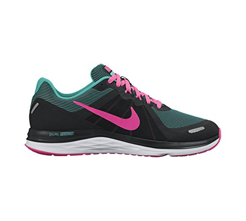 Nike 819318-010, Zapatillas de Trail Running para Mujer Negro (Black / Pink Blast-Clear Jade-White)
