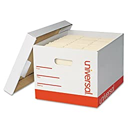 Universal Extra-Strength Storage Box with Lid, Letter/Legal, 12\
