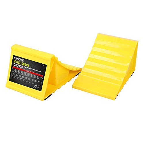 Pr1me 02-013 2 Piece Wheel Chock, Non Slip Base, Suitable for Most Tyre Sizes, Ideal chocks for RV, Trailer by Prime 1
