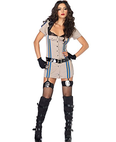 Leg Avenue 83854 Highway Patrol Honey Costume - Small - Tan - Highway Patrol Honey Costume