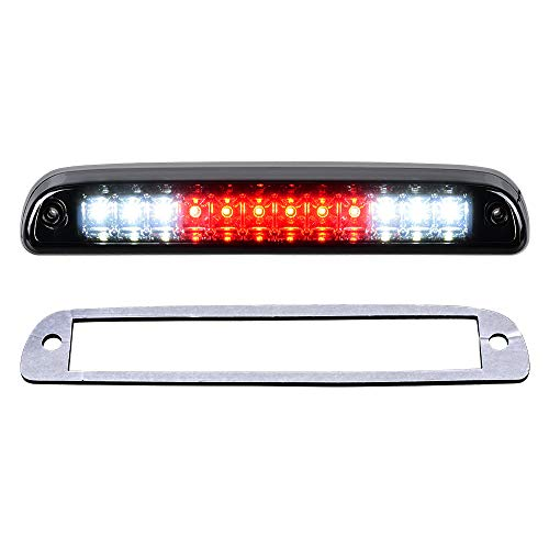 High Mount Dual Row LED 3rd Third Brake Light Assembly Tail Lamp Smoke Lens Compatible with 99-16 Ford F-250 F-350 F-450 F-550 Super Duty Ranger Explorer Sport Trac ()