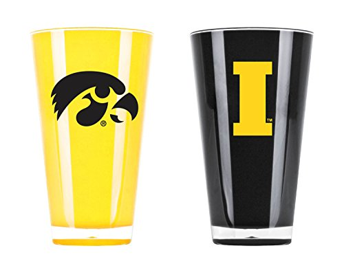 Duck House NCAA Iowa Hawkeyes 20oz Insulated Acrylic Tumbler Set of 2