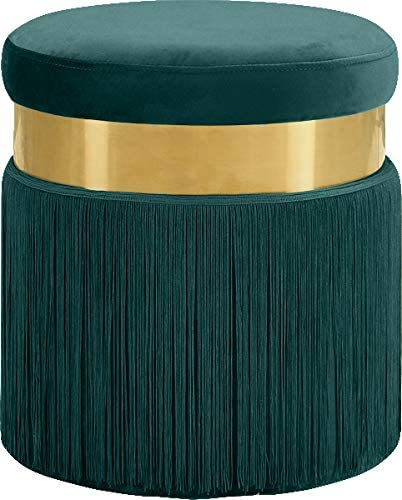 Meridian Furniture Yasmine Collection Modern | Contemporary Velvet Upholstered Ottoman/Stool Review