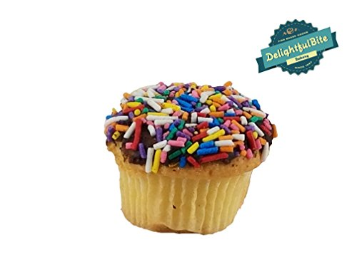 Freshly Baked Colorful Sprinkles Mini Cupcakes - 12Pack