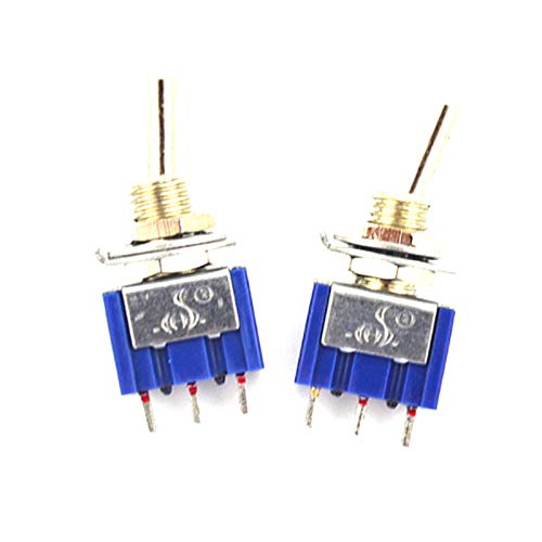 10Pcs 3 Pin 3 Position ON-Off-ON SPDT Mini Latching Toggle Switch AC 125V//6A 250V//3A