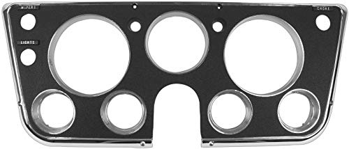 - 67-68 Chevy/GMC C10 Truck Black & Chrome Dash Bezel w/Lower Gauges