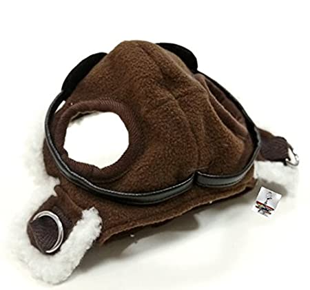 e26676a1902 Amazon.com   Charmed Aviator Pilot Hat with Goggles for Dogs in Sizes XS  thru XL (Small