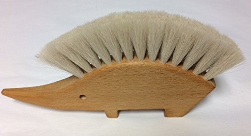 Hair Body Brush Goat - Hedgehog Table Brush Natural Goat's Hair by Nessentials