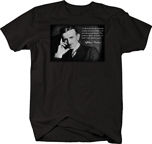 Bold Imprints Retro - Tesla Future Tell The Truth Work Inventor Genius Tshirt - 2XL