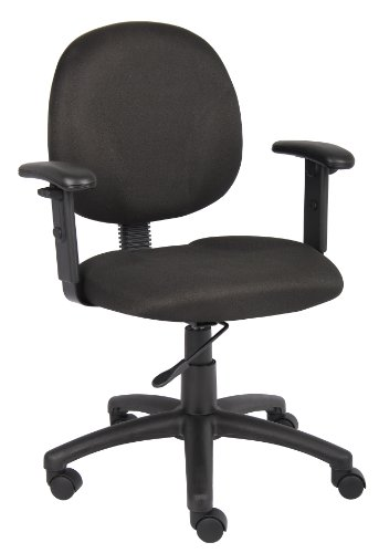 Boss Office Products B9091-BK Dimond Task Chair with Adjustable Arms in Black by Boss Office Products