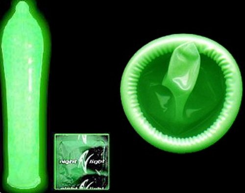 Night Light Glow in the Dark Latex Condoms Bulk [A New Experience with Your Partner]- 12 Lubricant Latex Condom