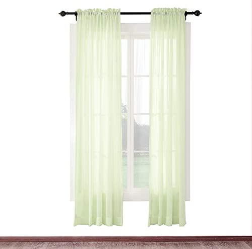 cololeaf Energy Efficient Privacy Protection Panels Room Divider Indoor Outdoor Curtain Window Treatment Draperies – Rod Pocket – Kiwi 120 W x 96 L 1 Panel
