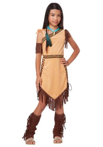 Toddler Pocahontas Costumes (Big Girls' Native American Princess Girl Costume - Xs)