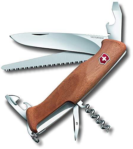 Victorinox Taschenmesser Ranger Wood 55 (10 Funktionen, Feststellklinge, Schraubendreher) Holz