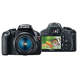 Canon 4462B004 EOS Rebel T2i 18 MP CMOS APS-C Digital SLR Camera with 3.0-Inch LCD and 18-55mm f/3.5-5.6 IS lens (Black)