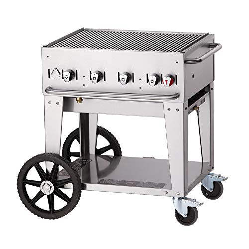 - Crown Verity CV-MCB-30LP Mobile Outdoor Charbroiler, Liquid Propape with 28