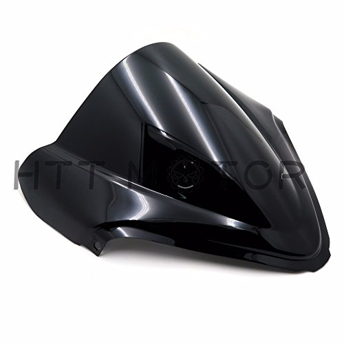 HTTMT CFP-1201-3- Double Bubble Windscreen Windshield Compatible with Suzuki Hayabusa GSXR1300R 2008-2016 New ()