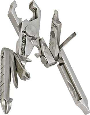 Swiss+Tech Polished SS 19-in-1 Micro Pocket Multitool for Camping