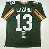 Autographed/Signed Allen Lazard Green Bay Green