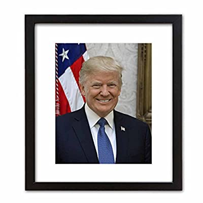 Wall Art Print ~ Trump Official Presidential Photo: in The Oval Office
