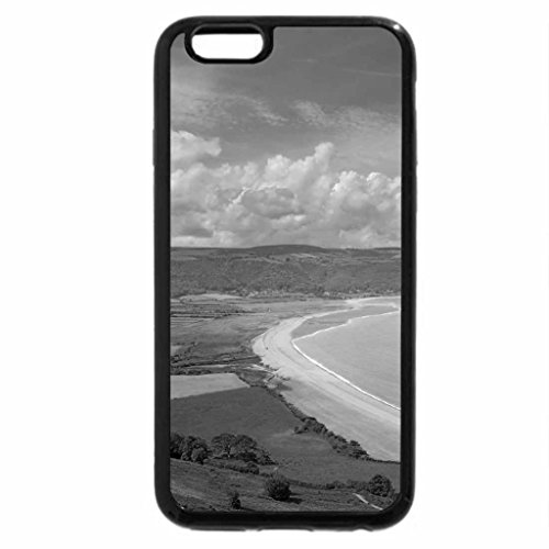 iPhone 6S Case, iPhone 6 Case (Black & White) - clean beach in bossington england