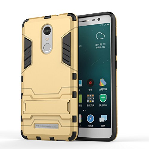 best website 1d0a7 2a06c Chevron Back Cover Case for Xiaomi RedMi Note 3 (Gold) [Military Grade  Version 2.0 with Kick Stand Hybrid Back Cover Case]