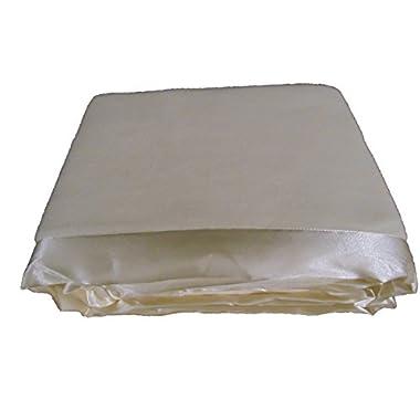 Cozy Fleece Micro Fleece Blanket with Satin Binding, Ivory, Twin