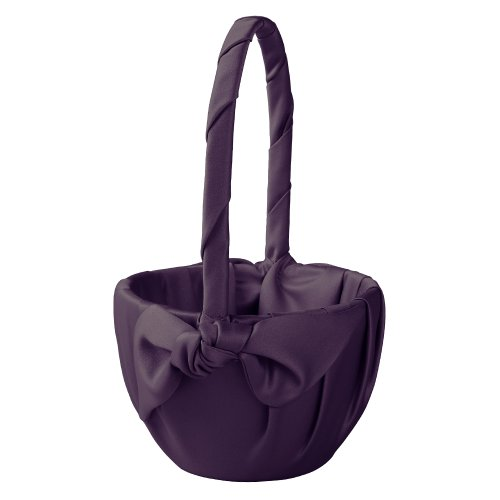 Ivy Lane Design Love Knot Flower Girl Basket, Eggplant