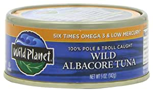 Wild Planet Wild Albacore Tuna, 5-Ounce Cans (Pack of 6)