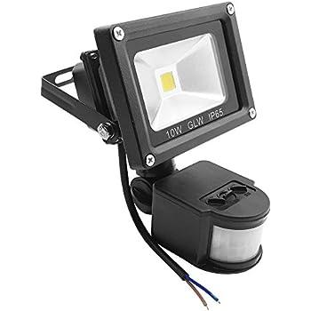 ac led flood light wiring glw 10w led motion sensor light 12v ac or dc, 800lm pir ... #12