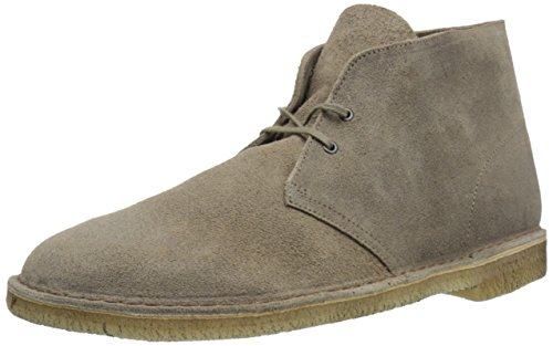 CLARKS Men's Desert Chukka Boot, Taupe Suede, 9.5 Medium US