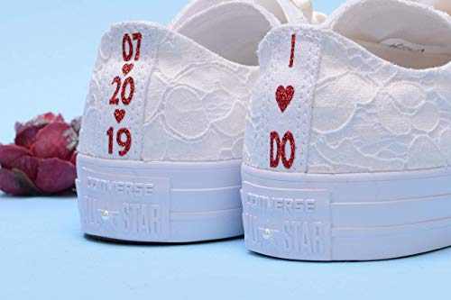Personalized Ivory Wedding Sneakers