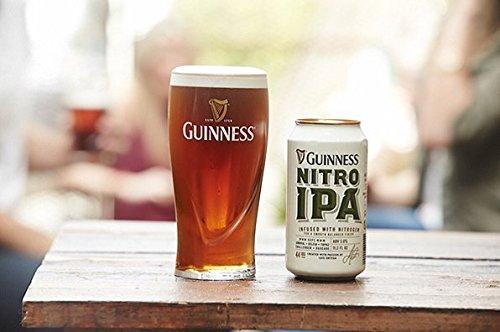 Guinness Gravity 20 Ounce Embossed Pint Beer Glasses 14K Gold Harp Logo / 4 Pack by Guinness Gravity Glass (Image #5)