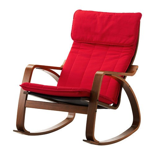 Ikea Poang Rocking Chair Medium Brown With Cushion