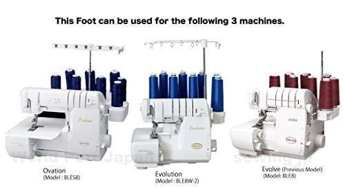 "Babylock ""Lace Applicator Foot"" BLE8-LF for Evolution (BLE8W-2), Ovation (BLES8) Serger"