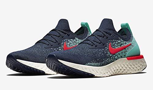 Nike Men s Epic React Running Shoes 14 M US, College Navy Hyper Jade Sail Red Orbit