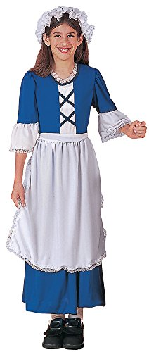 UHC Girl's Little Miss Colonial Theme Fancy Dress Child Halloween Costume, Child S (Little Colonial Boy Child Costumes)