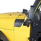 Hooke Road Jeep Wrangler Cowl Body Armor Five Star Corner Guards for 1997-2006 Jeep Wrangler TJ