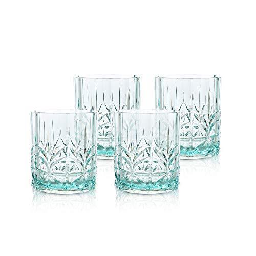 BELLAFORTE – Shatterproof Tritan Short Tumbler Teal – 13oz, Set of 4 Myrtle Beach Drinking Glasses, Dishwasher Safe…