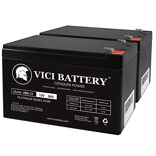 VICI Battery 12V 9Ah Battery Replacement for Sports Tutor Tennis Tutor - 2 Pack Brand Product